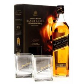 Johnnie Walker Black Label Blended Scotch Whisky 0,75 с бокалами